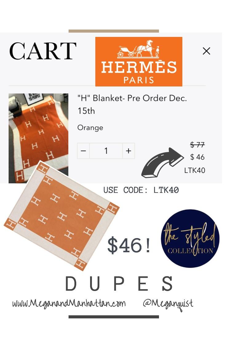 The H Blanket & H Pillow Biggest SALE of the Season! Hermes Dupes under $50.00 #LTKSale